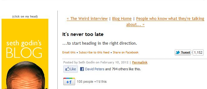 Change the direction of your blog