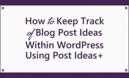 How to Keep Track of Blog Post Ideas Within WordPress Using Post Ideas+