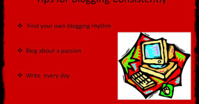 blog consistently, blogging consistently