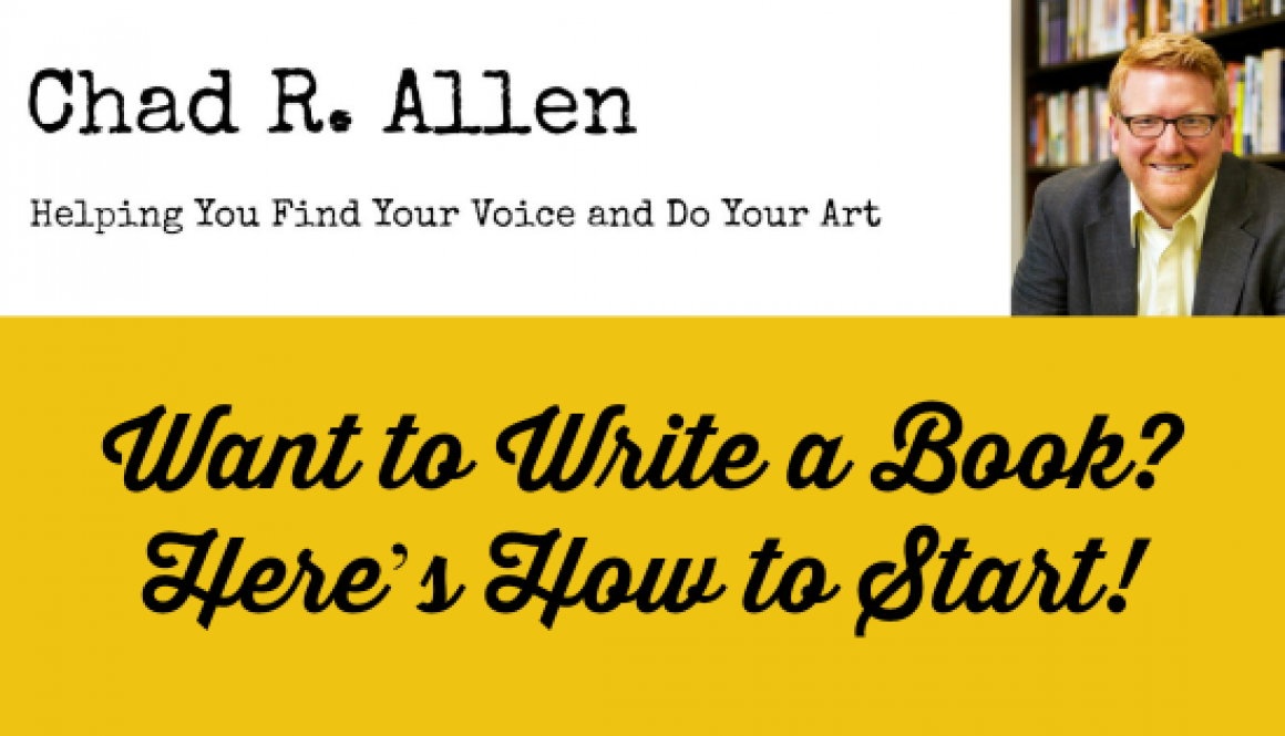 First Steps in Writing a Book (with Chad R. Allen)