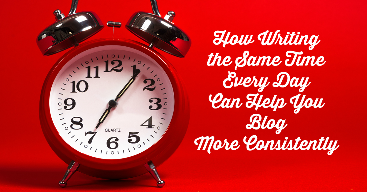 set a time to blog