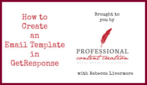 how to create a newsletter template in getresponse