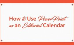 Do you have an editorial calendar for your blog? In this article, I show you how to use PowerPoint as an editorial calendar.
